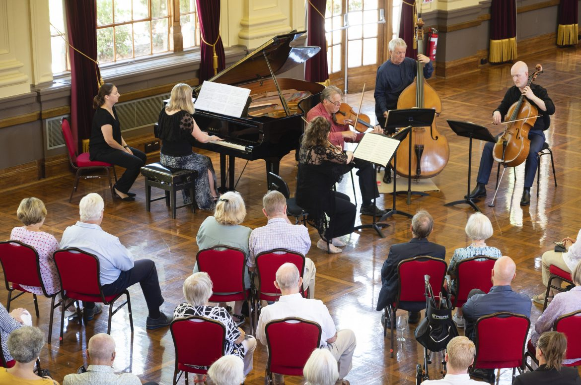 CSO piano quintet perform at Albert Hall for a socially distanced audience